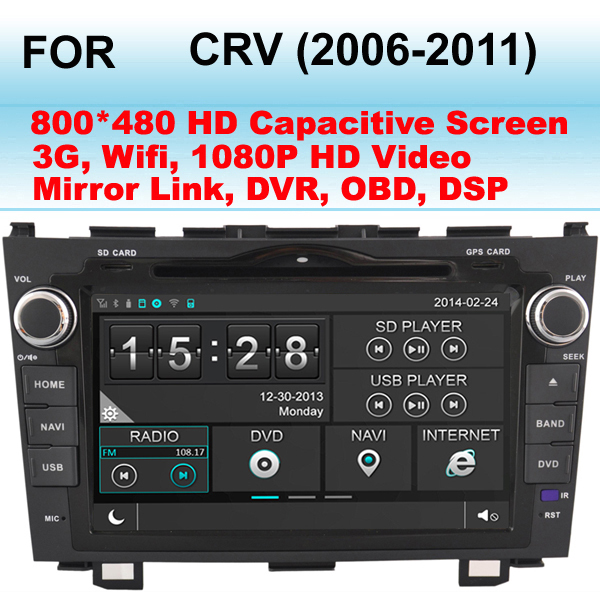 8 Inch Car DVD Player For Honda CRV Car radio (2006-2011) CR-V Car GPS ,Support WiFi and 3G,Support Mirror Link (Phone Link)(China (Mainland))