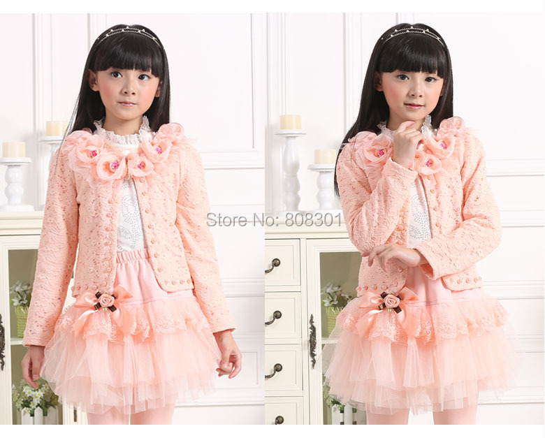 Wholesale and retail 2014 hot autumn new models long-sleeved lace princess three-piece suit for children free shipping<br><br>Aliexpress