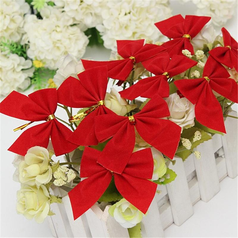 Pretty Red Bows For Festival Decoration Christmas Tree