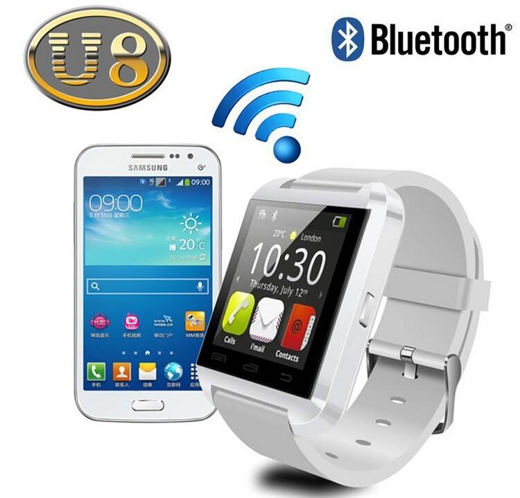 Smart Bluetooth Watch MTK WristWatch Watches U8 U iPhone 4/4S/5/5S Samsung S4/Note 2/3 Android Phone smartphones