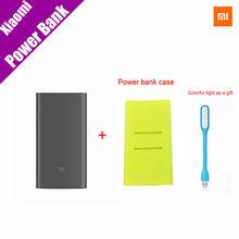 Оригинал Xiaomi Mi Power Bank Pro 10000 мАч Mi Powerbank Pro 10000 Slim USB Type-C Быстрее Заряда + Poewer банк Случае(China (Mainland))
