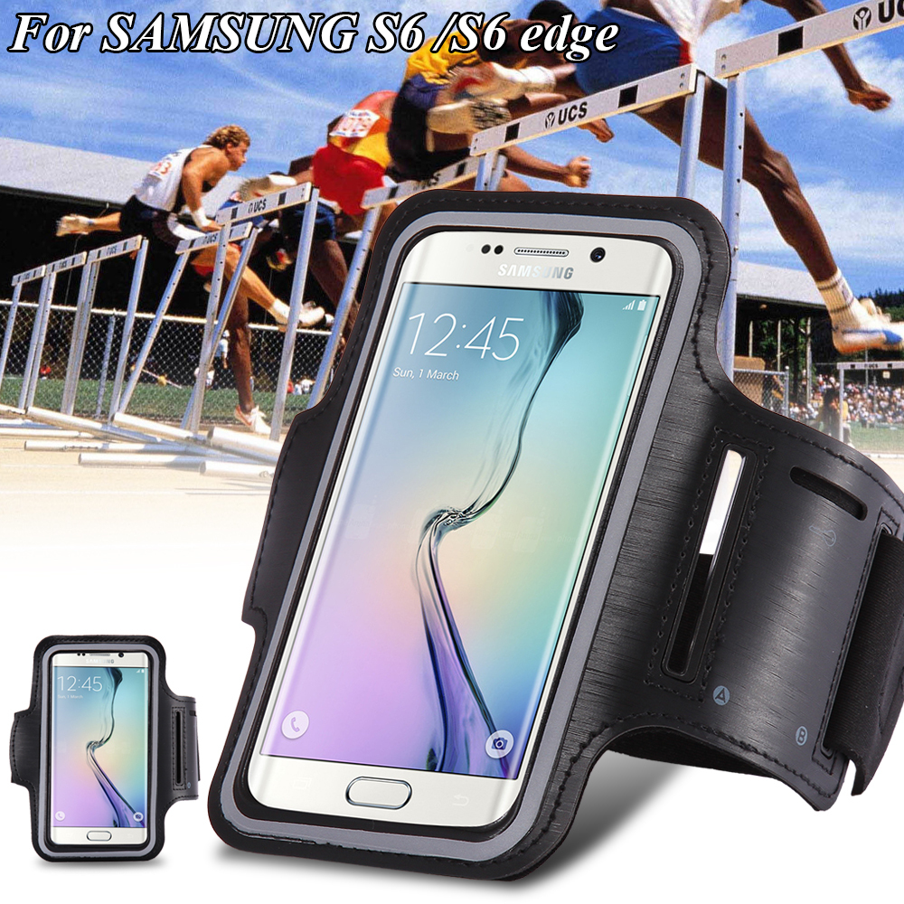 Waterproof Sport Running Arm Band Case For Samsung Galaxy S3/S4/ S5/S6/S6 Edge Gym Mobile Phone Arm Holder Belt Leather Cover(China (Mainland))
