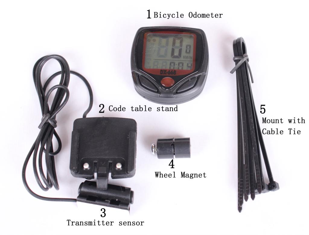 2015 Waterproof Speedometer Mountain Road MTB Cycle Digital LCD Display Cycling Bicycle Bike Computer Odometer Free