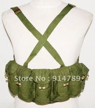 SURPLUS VIETNAM WAR CHINESE TYPE 63 AUTO CHEST RIG AMMO POUCH -31192(China (Mainland))
