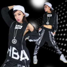 2016 Free Shipping DS new hiphop hip hop hip-hop pants costume acrobatics of jazz dance, modern dance dress women clothing