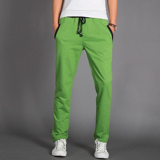 2016 новые люди бегунов спортивные брюки свободного покроя стройный вязать штаны ...