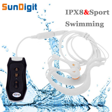 High Quality 8 GB IPX8 Headphones Waterproof 8GB Mp3 Player 8 G Mp 3 For Swimming Surf Scuba Diving Wear Type Earphone Tracking(China (Mainland))