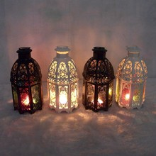 2016 Classic Moroccan Decor Candle Holders Votive Iron Glass Hanging Candlestick Candle Lantern Party Home Wedding Decoration(China (Mainland))