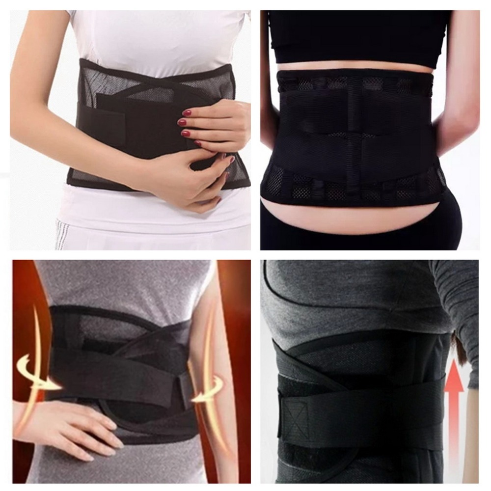Health Care Thin Breathable Mesh Back Lumbar Support Four Steel Plate Protection Belt Hot! Worldwide sale(China (Mainland))