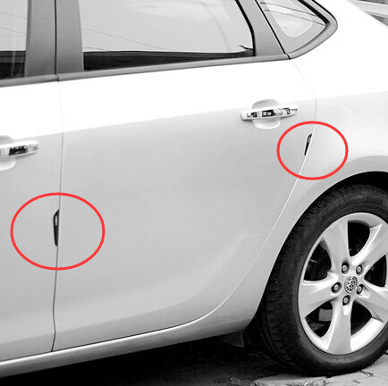 Car-Styling Door Edge Protection Stickers Geely X7 Vision SC7 MK Cross Gleagle BOUNS M11 INDIS VERY GX7 SX7 ARRIZO