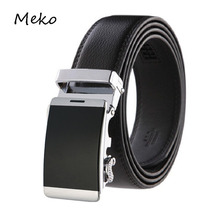Buy Brand designer leather strap male automatic buckle belts men authentic girdle trend men's belts ceinture cinto masculino B18 for $7.20 in AliExpress store
