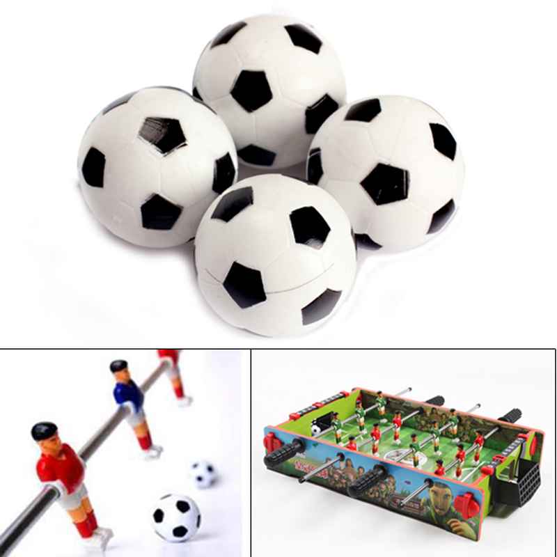 New 4pcs 32mm Plastic Soccer Table Foosball Ball Football Durable Table Game Accessories Free Shipping(China (Mainland))