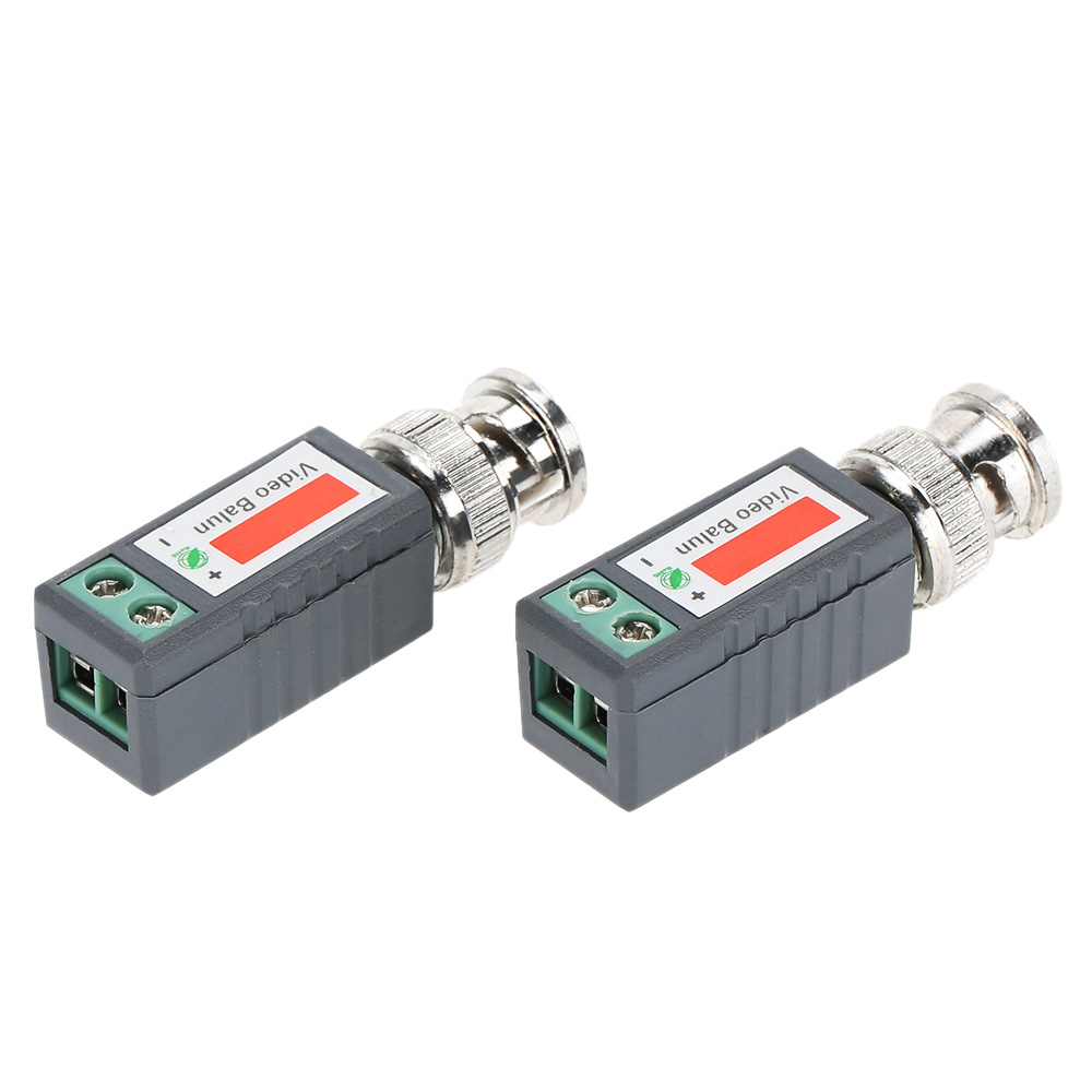 2pcs CCTV Video Balun Passive Transceivers 2000ft Distance UTP Balun BNC Cable Cat5 CCTV UTP Video Balun(China (Mainland))