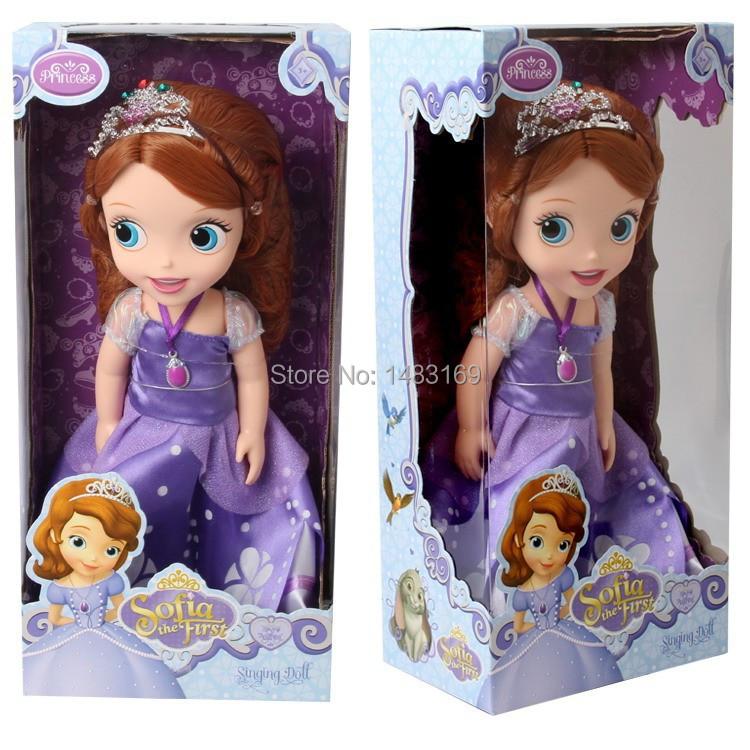 2014 Hot! Original edition 12inch Sofia the First Sofia princess Bobbi doll VINYL toy boneca accessories Doll For Kids Best Gift(China (Mainland))