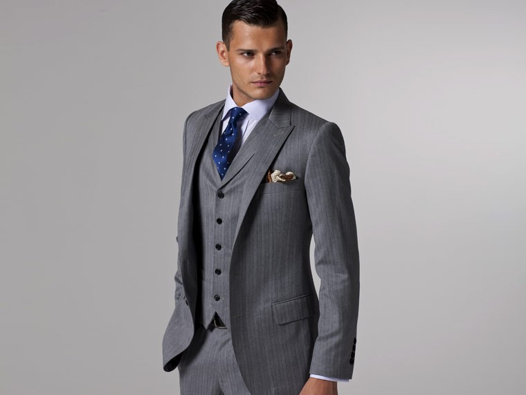 Mens 3 Piece Suits Slim Fit