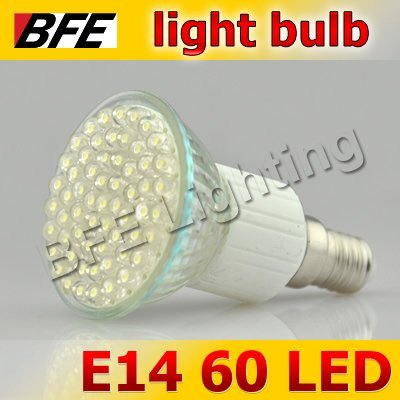 Holiday Sale 4pcs/Lot E14 60 LED Warm/Cold White Light Bulbs Bright Free Shipping New Year