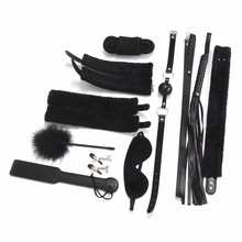 Buy 10Pcs SM Bondage Set Leather Fetish Adults Games Cuff Whip Sex Toys Couples Slave Game SM Product Erotic Toys for $17.47 in AliExpress store