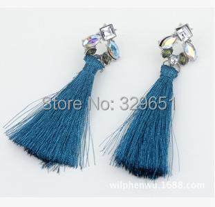 Новый стиль темперамент ювелирные изделия мода горный хрусталь кисточкой серьги шарм серьги для женщин MJ-36