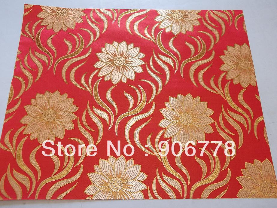 Red headtie with latest flower pattern jubilee sego head tie gele 2pcs/bag for wedding and party(China (Mainland))