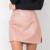 Женская короткая юбка из искусственной кожи