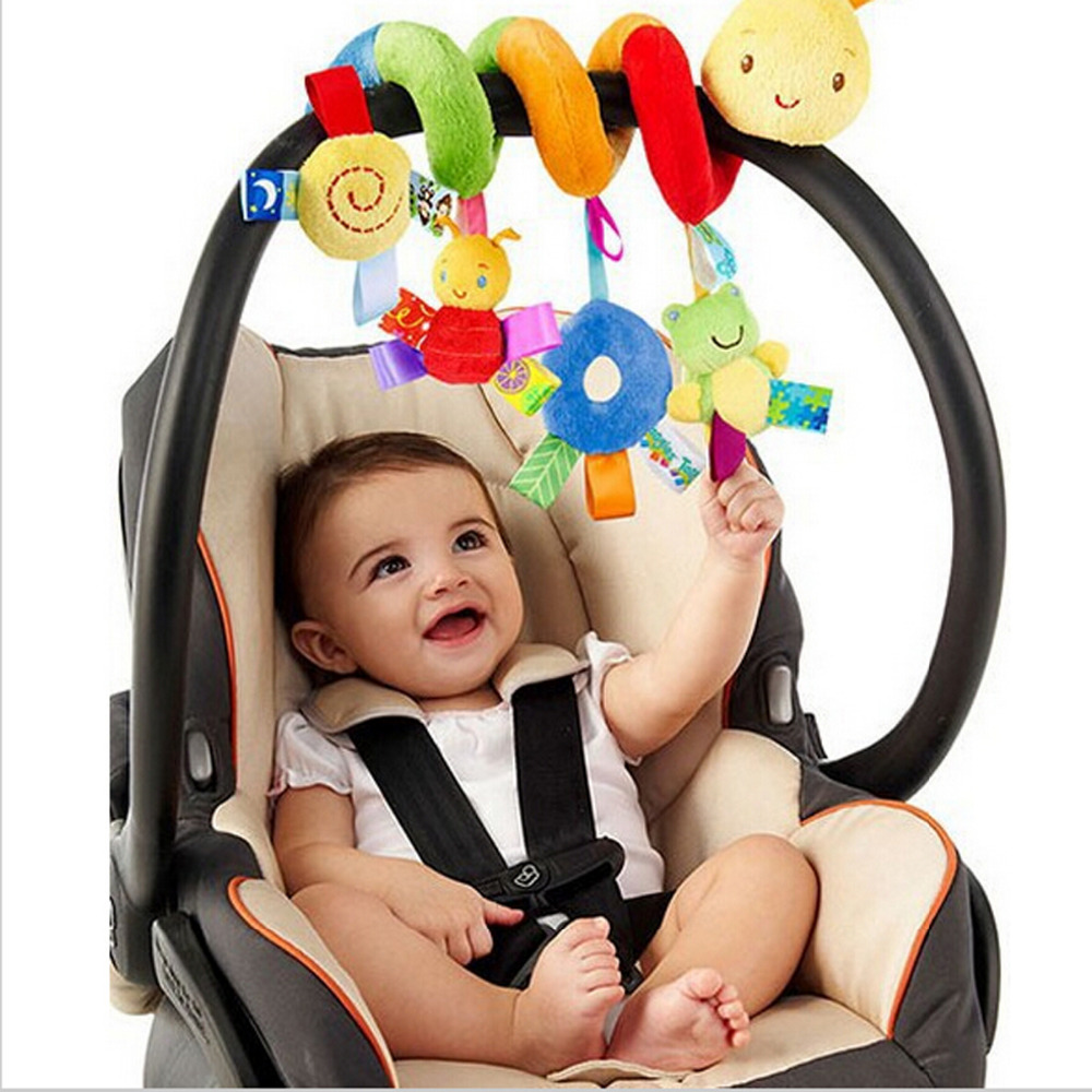 2016 New Infant Toys Baby Crib Revolves Around The Bed Stroller Playing Toy Crib Lathe Hanging Baby Rattles Mobile(China (Mainland))