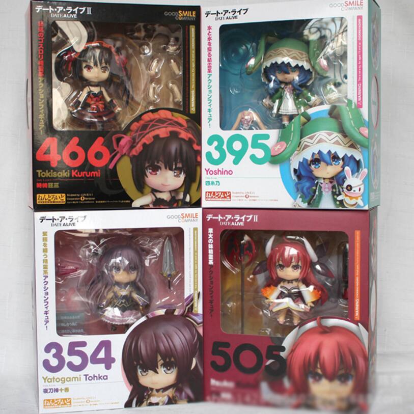 Original Box DATE A LIVE Yoshino Tokisaki Kurumi Yotogami Tohka Itsuka Kotori Action Figures Anime Model Cute Collection toys(China (Mainland))