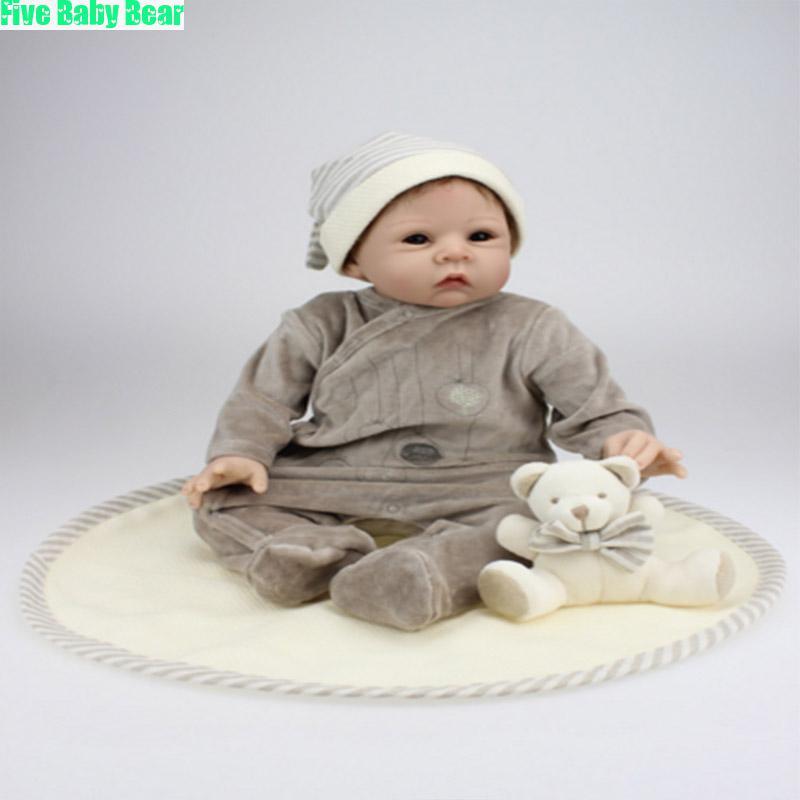 Фотография Baby Doll 55cm Newborn Reborn Babies Dolls Toys Silicone Lifelike Baby Dolls Bonecas Silicone Newborn