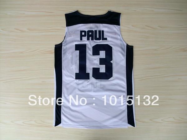 Cheap 2012 Olympics Team Usa 13 Chris Paul Sports Basketball Jersey Dark Blue, White, Full Size(China (Mainland))