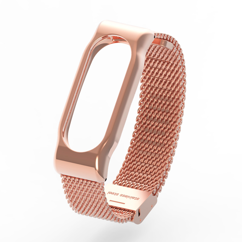 Metal Strap for Xiaomi Mi Band 2 Screwless Stainless Steel Bracelet for MiBand 2 Smart Band Replace Accessories For Mi Band 2