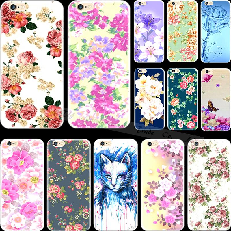 5 5S SE Multicolor Top Popular Flowers Silicon Phone Shell Cover For Apple iPhone 5 iPhone 5S iPhone5 iPhone5S Case Cases Hot(China (Mainland))