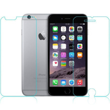100Sets of Front + Back Tempered Glass Screen For iPhone 6s plus 5.5″ 2.5D Arc Edge Screen Protector Film 0.26mm With Packing