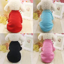 Puppy Pet Dog Clothes Autumn Winter Soild Soft Hoodie Coat Jumpsuit Sweater Small Cat Clothing 2 Leg for Small XS S M L XL XXL(China (Mainland))