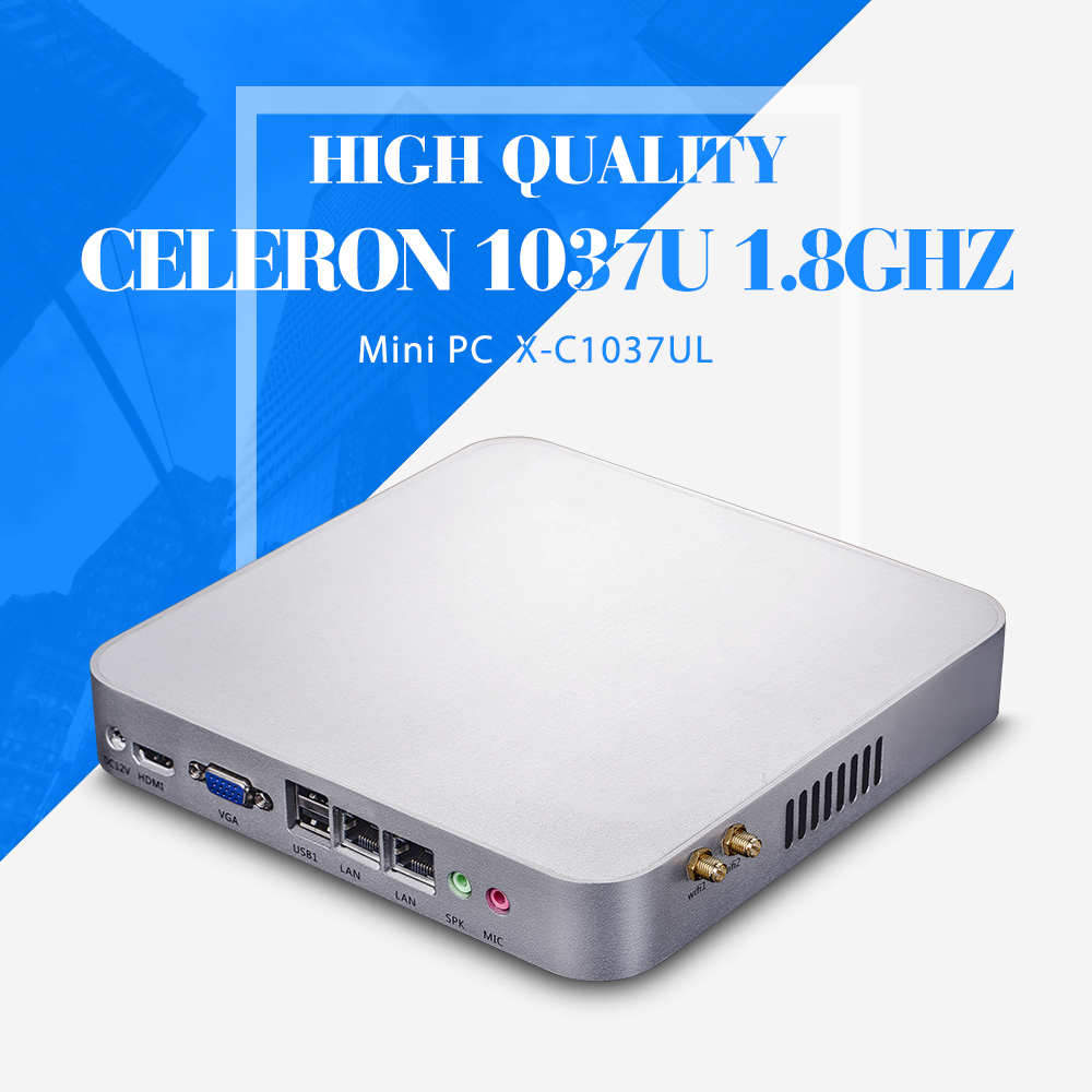 C1037U 2*RJ-45 Barebone smaller space, energy factory of keyboard wired mini server linux computer networking desktop computer(China (Mainland))
