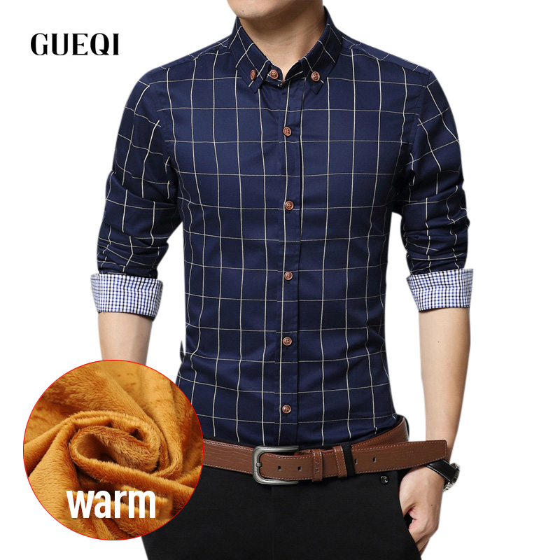 buy mens dress shirts flannel warm thick