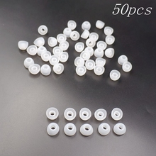 50pcs Soft 11MM Replacement Silicon Ear Pad Earbud Cover For In-Ear Earphone Transparent White