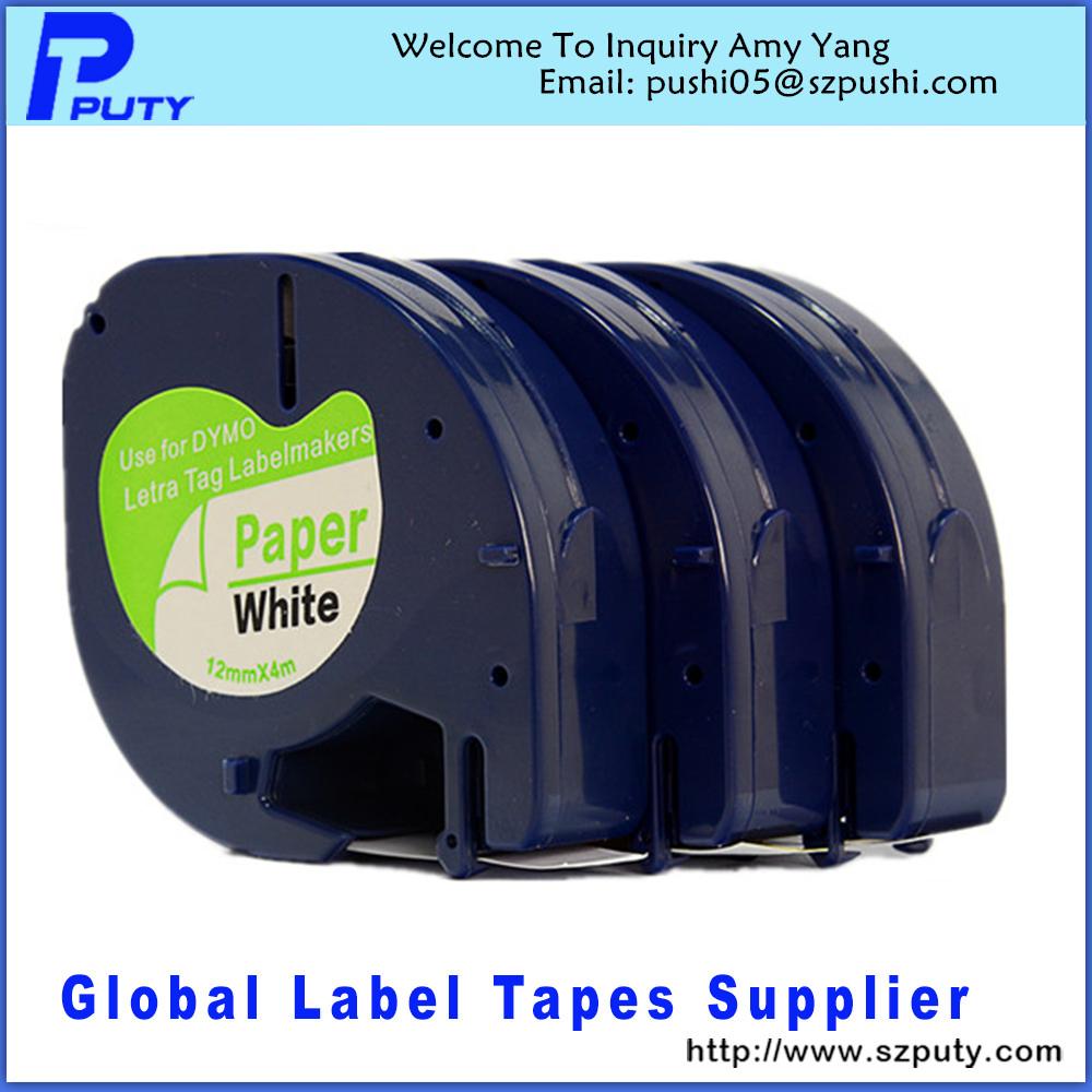 Лента для печатающего устройства PUTY Dymo LetraTag 91200 Dymo 91200 лента для печатающего устройства puty 2pk mk231 p touch m k231 mk 231 pt m k231