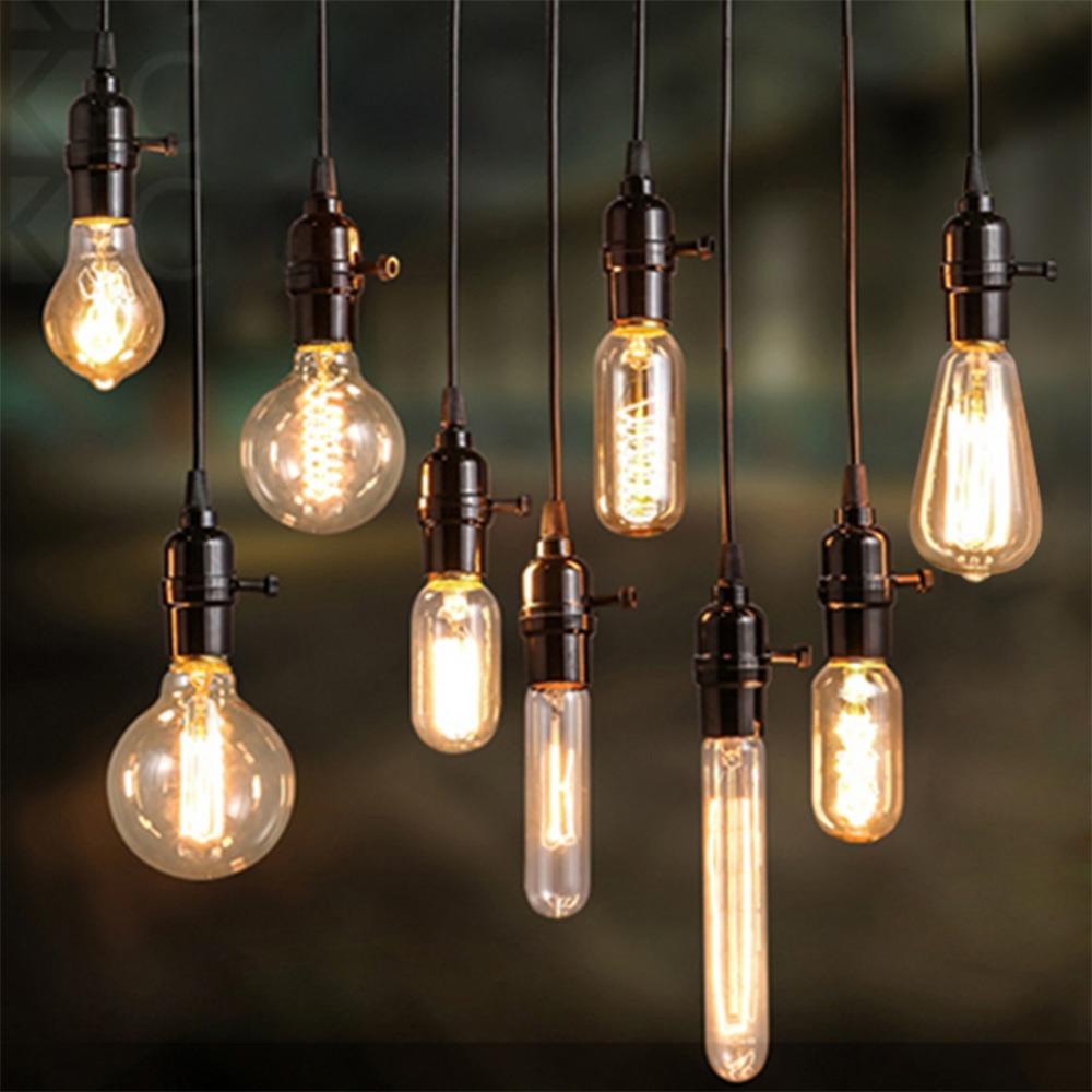 Гаджет  Free ship Vintage Edison Bulb Light Lamp AC E27 220 V 40 W Vintage Edison Bulbs Incandescent Lamp Decor Light Bulb Warm White None Свет и освещение