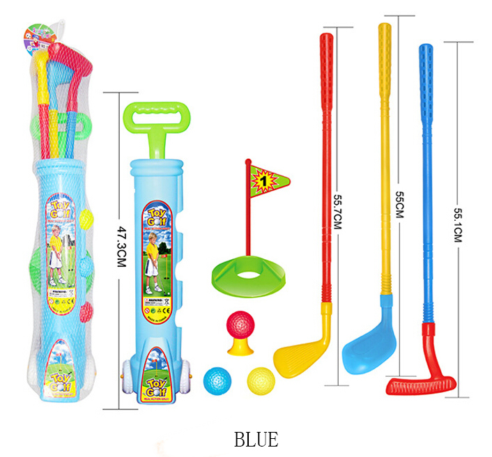 Children golf packages Sports Kindergarten parent-child interactive toys trailer Golf Game Outdoor Golf kid toy free shipping(China (Mainland))