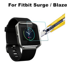 Ultra Thin 0.2mm 2.5D Premium Tempered Glass Screen Protector For Fitbit Surge Blaze Smart Watch HD Toughened Protective Film(China (Mainland))