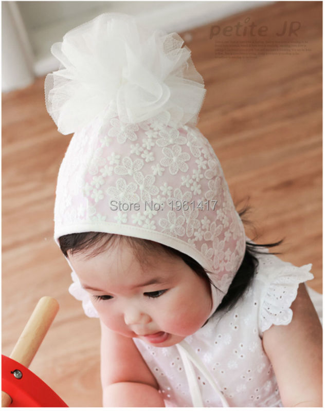 2016 Lace Cap Girls Dress Accessories Baby Bonnet Flower Hat Custom Made Factory - My Handmade store