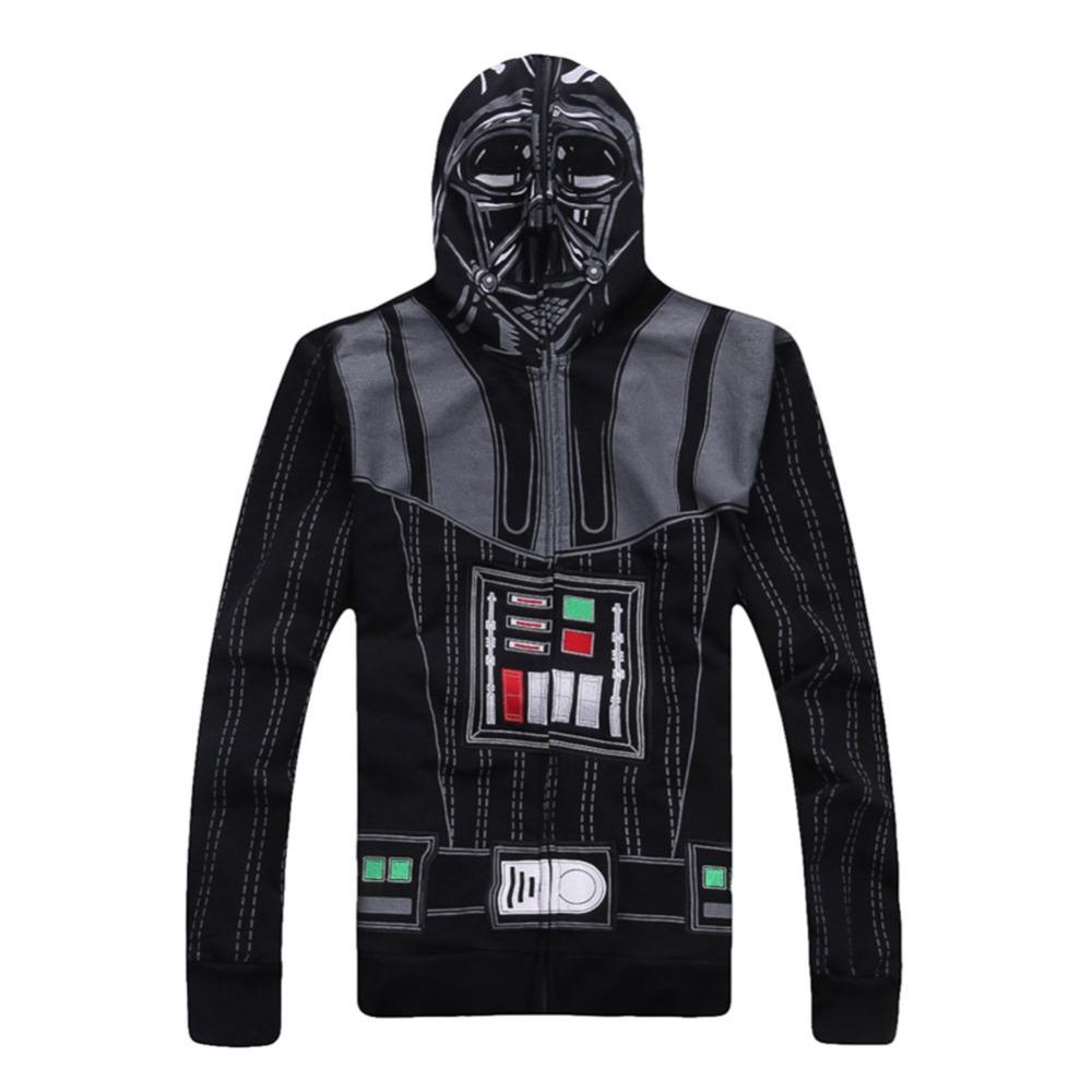 Xcoser Star Wars New Arrival Darth Vader Hoodie Star Wars Darth Vader Masked Zip Coat Sweat Shirt Cosplay Costume disfracesОдежда и ак�е��уары<br><br><br>Aliexpress