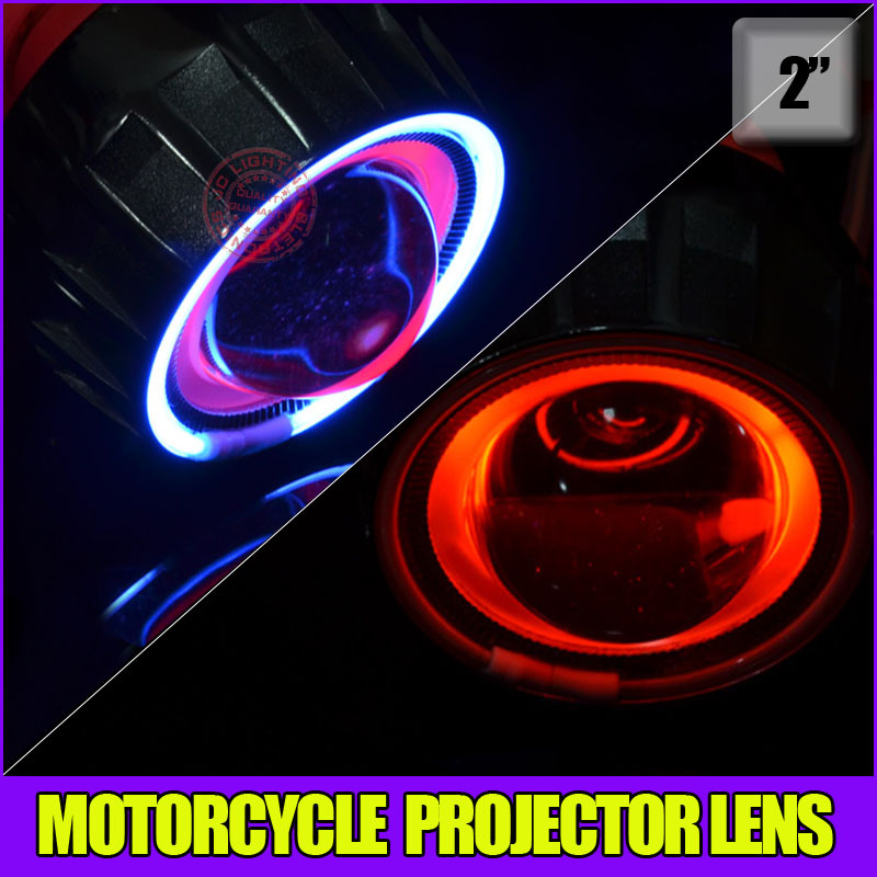 Bi xenon Motorcyle Projector lens light with xenon lamp,demon eyes ,CCFL angel eyes for H1 H3 H7 H11 9004 9006 hid kit(China (Mainland))