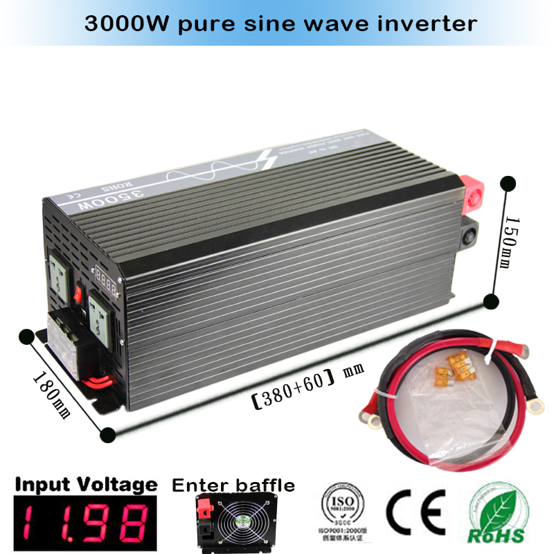 Pure Sine Wave Inverter 3500W 7000W Peak 12V/24VDC 110V/100VAC 220V/230VAC USB CE RoHS Solar And Car Power Inverter(China (Mainland))