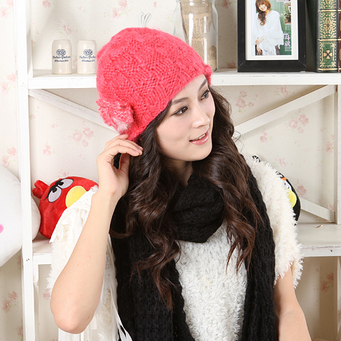 2011 lovely yarn handmade knitted hat mz101