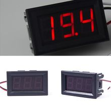 Hot Sale DC 0-30V Red LED 3-Digital Display Voltage Voltmeter Panel Motorcycle 01#55834