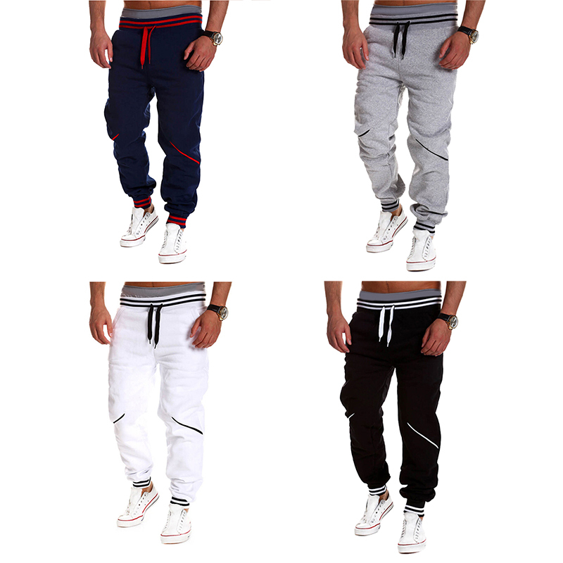 Loose Casual Tracksuit Bottoms Sport Training Pants Cotton Trousers Joggers Sweatpants Male Hiphop Trousers Masculina MD433