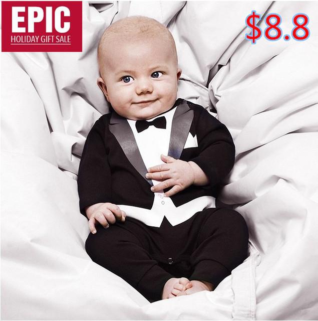 OWIND Baby boy's Gentleman modelling romper Drop Shipping Retail Hotsale