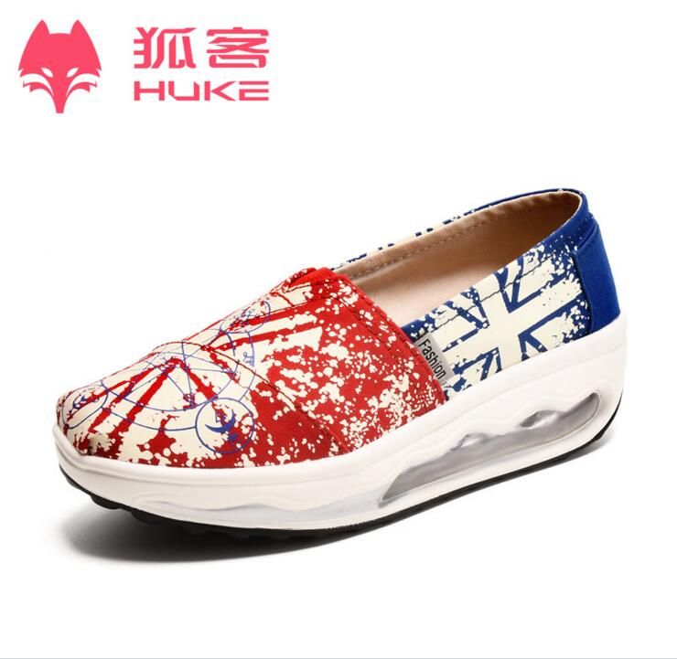 HOT. 2016 low huke canvas for ladies shoes, leisure fashion clothing freely comfortable women's shoes(China (Mainland))