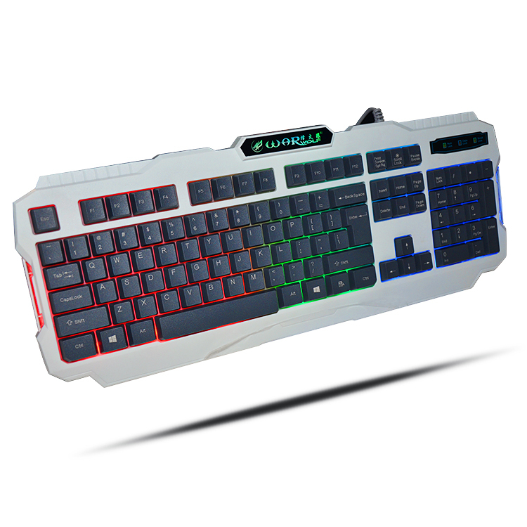 HOT Free Shipping 3-Color Switch Backlight USB Wired Gaming PC/Laptop Keyboard Gamer Computer Peripherals Aggravation(China (Mainland))
