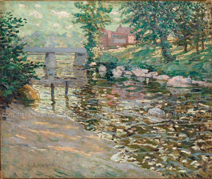 Bedroom Wall Pictures Paintings Acrylic Paint By Number Large Canvas Wall Pa Ernest Lawson The Bronx River(China (Mainland))